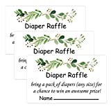 50 Greenery Diaper Raffle Tickets for Baby Shower Invitation Inserts,Baby Shower Game Cards.