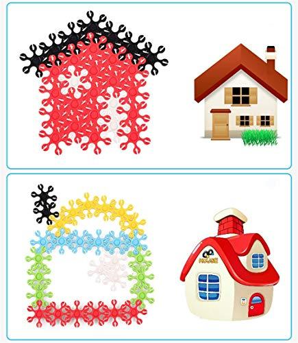 Liuxiaomiao-Toy Blocs Jouets Enfants 3-12 Ans, 200 pièces de Morceaux de Flocons de Neige, Jouets for Enfants pour la Famille de la Maternelle (Color : Multi-Colored, Size : One Size)