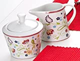 Ritzenhoff & Breker Zuckerdose und Milchkännchen Set Doppio Shanti, 2-teilig, Porzellan , Floral - 4