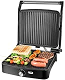 OSTBA Panini Press Grill Indoor Grill Sandwich Maker with Temperature Control, 4 Slice Non-stick Versatile...