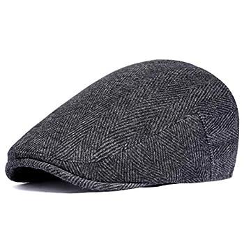 BABEYOND 1920s Gatsby Newsboy Hat Cap for Men Gatsby Hat for Men 1920s Mens Gatsby Costume Accessories  Black Small/Medium
