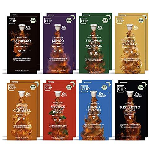 My-CoffeeCup – GOURMET-KAFFEE-BOX: 160 KAPSELN BIO-KAFFEE I Kaffeekapseln für Nespresso®*-Kapselmaschinen I 100% industriell kompostierbare Kaffeekapseln – 0% Alu I Nachhaltige Kaffeekapseln