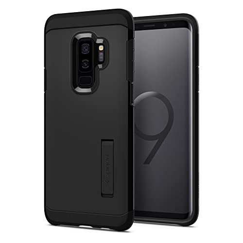 Samsung Galaxy S9 Plus Case, Spigen® [Tough Armor] Galaxy S9 Plus Case with Reinforced Kickstand and Heavy Duty Protection Designed for Samsung Galaxy S9 Plus (2018) - Black