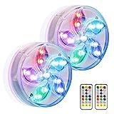 Eletorot - Luces de paisaje coloridas decorativas LED impermeables RGB sumergibles con mando a distancia, ideal para acuario, bañera o piscina