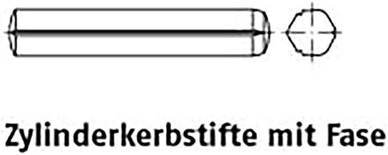 Zyl.kerbstiften m. fase ISO 8740 staal 10 x 20 VE=S 25 stuks