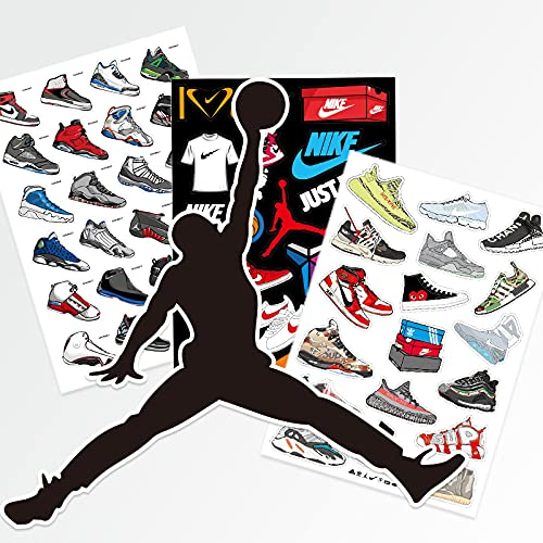 Nike Sneakers Jordan Schoenen Sticker Persoonlijkheid Tide Merk Bagage Koffer Mobiele Telefoon Notebook Skateboard Waterdichte Sticker 61 STKS