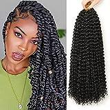 Passion Twist Hair,6 paquetes extensiones de pelo18 pulgadas pelo para trenzas africanas extensiones de pelo, trenzas...