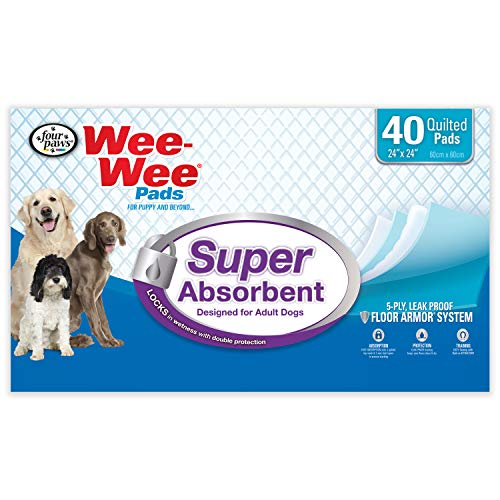 Four Paws Wee-Wee Super Absorbent Pads for Dogs 40 Count Large 24