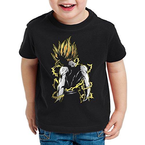 style3 Goku Pop-Art Power T-Shirt pour Enfants, Talla:140
