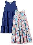 Spotted Zebra Knit Sleeveless Tiered Dresses Vestido, 2-Pack Monster/Navy, S, Pack de 2