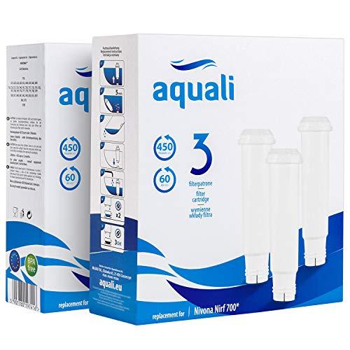 6 cartuchos de filtro de repuesto   Compatible con Nivona   Set Aquali compatible con Melitta