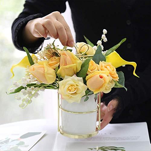 FIBVGFXD Kunstbloemen, gesimuleerd rozenboeket saffraan zijde bloem plant bruiloft feest huisdecoratie DIY decoratie