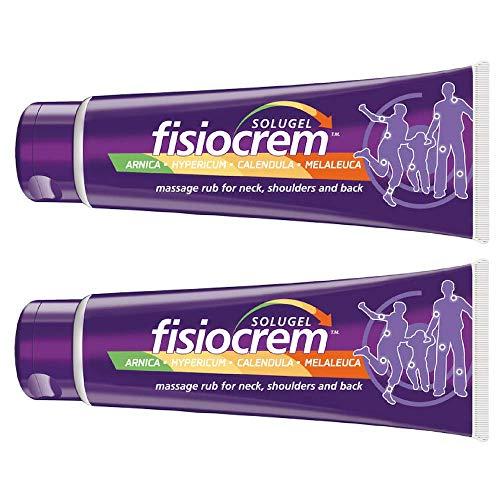 SOLUGEL FISIOCREM Crema de músculo para aliviar el dolor articular y muscular (paquete de 2) 60 ml