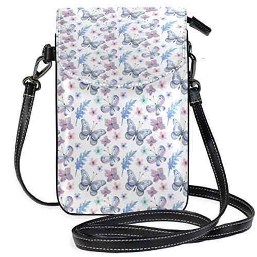 XCNGG Kleine Geldbörse Butterfly Cell Phone Purse Wallet for Women Girl Small Crossbody Purse Bags