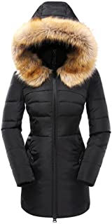 Beinia Valuker Womens Down Coat with Fur Hood with 90% Down Parka Puffer Jacket