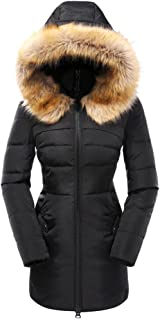 Valuker Women's Down Coat with Fur Hood with 90% Down...