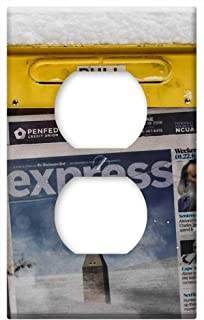 Switch Plate Outlet Cover - Snowzilla January 2016 Snow Storm Kiosk Newspapers
