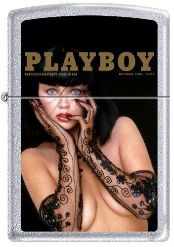 Zippo Playboy December 1988 Cover Satin Chrome Windproof Lighter NEW RARE