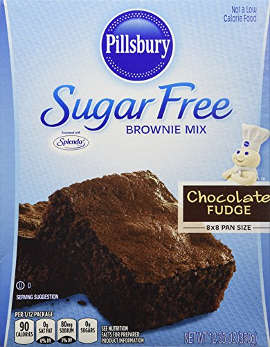Pillsbury Sugar Free Mix-Chocolate Fudge Brownie-12.35 Oz-2 Pack