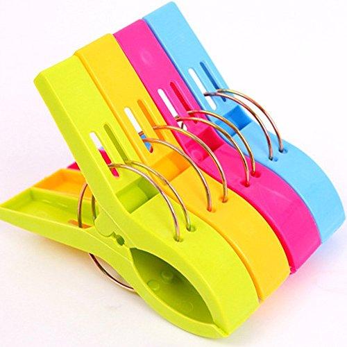 Yigo 4 Stück große Wäscheklammern Kunststoff Clips Quilt Clips für tägliche Wäsche
