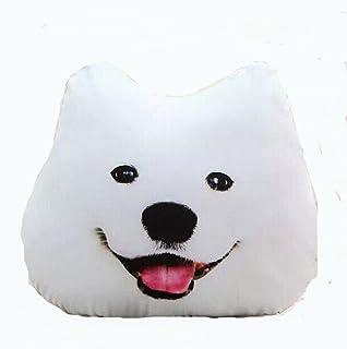 ふく福 柔らかい 抱き枕 コスプレ枕  可愛い 犬顔 クッション ぬいぐるみ  ギフト 装飾(45cm) (サモエド)
