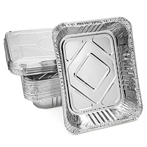 Aluminum Foil Pans with Lids 9x13 (20 Pack) Half Size...