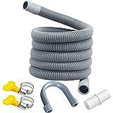 Manguera de desagüe,tubo de desagüe,Kit de extensión de manguera,Prolongación del tubo de...