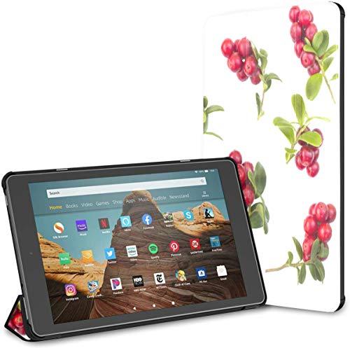 Estuche para Tableta Cranberry Fire HD 10 de Moda en Rojo Brillante(novena/séptima generación,versión 2019/2017) Estuche para Tableta Fire Fire HD 10 Estuche Auto Wake/Sleep