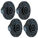 GLS Audio Speaker Jack Twist Lock 4 Pole Round - Compatible with...
