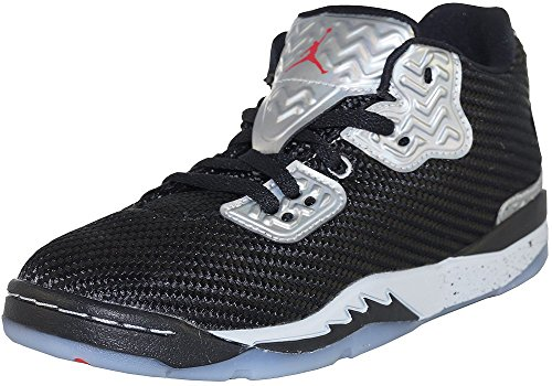 Nike Jungen Jordan Spike Forty Low BP Basketballschuhe, Black (Schwarz/Fire Red-Pure Platinum), 31.5 EU