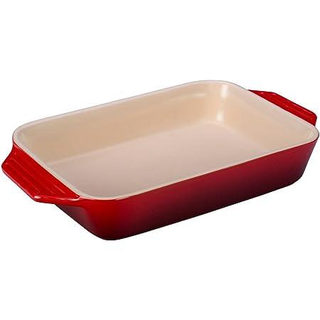 Le Creuset Stoneware Rectangular Dish, 3.15 qt. (9 L x 12 W x 2.5 H inches), Cerise