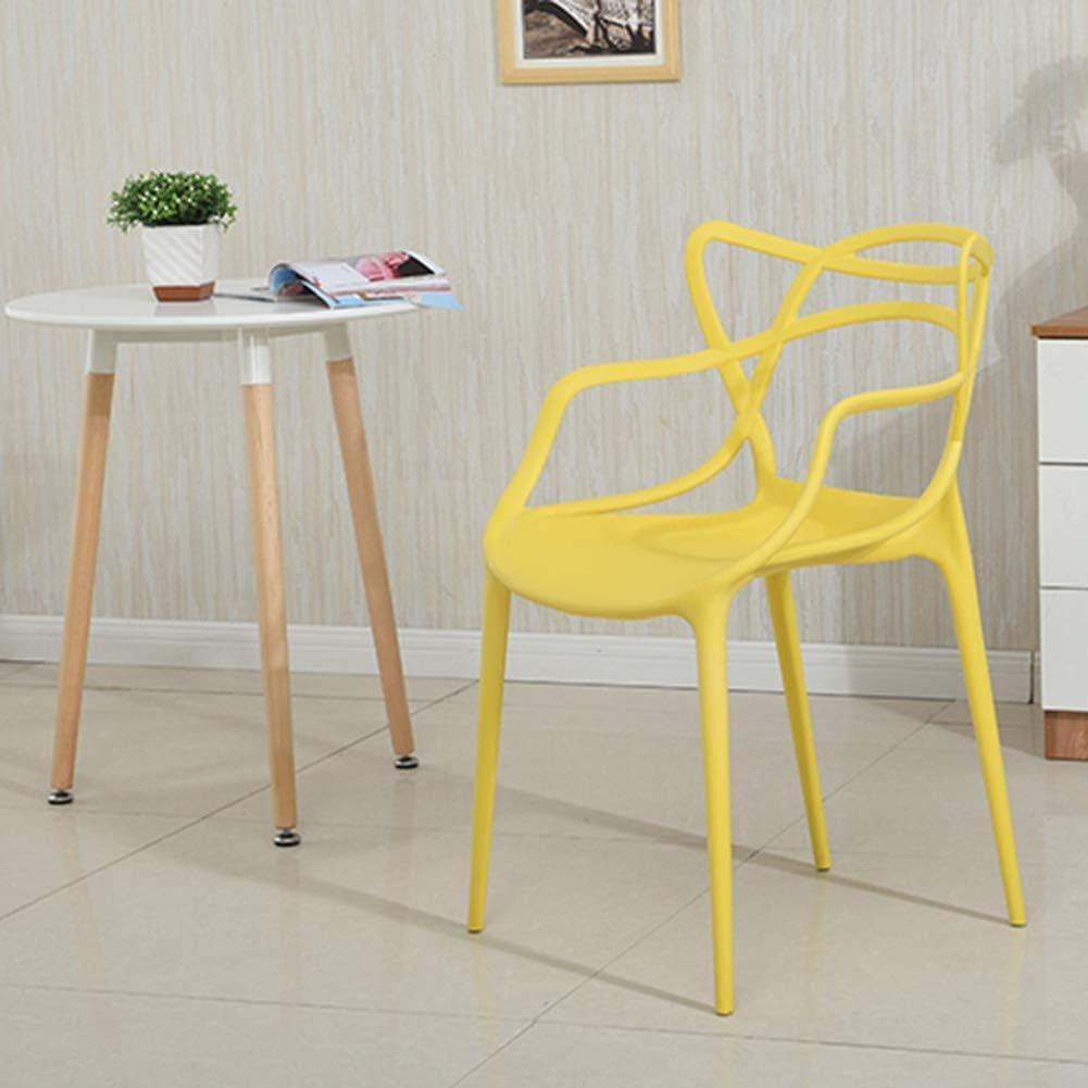 WEIZI Chaise en Plastique Chaise de Salle à Manger de géométrie créative Moderne de Style européen Chaise Longue de Bureau d'ordinateur d'étudiant de Bureau à Domicile Noir Red