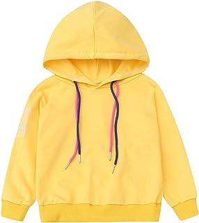 Meisje Van De Peuter met Capuchon Trui, Solid Kleur Hooded Top Outfit voor Little