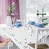 KATELUO 8 Stück Flower Tischdeckenbeschwerer, Edelstahl Tischtuchklammer, Tischdecke Gewichte, Tischtuchklammern für Dicke Tischplatten, Verdickter 2.5 mm Clip, Ideal für Haus, Restaurant, Cafe - 5