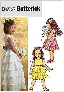 7eb814996 Butterick 4967 CDD - Patrones de costura para confeccionar vestido de niña  (3 modelos diferentes