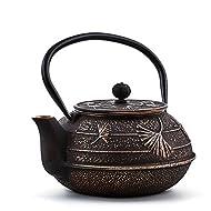 Old Dutch Ginkgo Teapot, 22 oz, Black, Copper