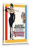 1art1 Audrey Hepburn - Breakfast At Tiffany's, One-Sheet Cuadro, Lienzo Montado sobre Bastidor (120 x 80cm)