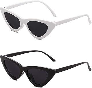 Retro Vintage Narrow Cat Eye Sunglasses for Women Clout Goggles Plastic Frame Cardi B SJ2044