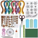 Skelang - Kit per quilling, per principianti, con 36 colori, 720 strisce di carta, strumenti per quilling e accessori per progetti artistici, biglietti di compleanno fai da te