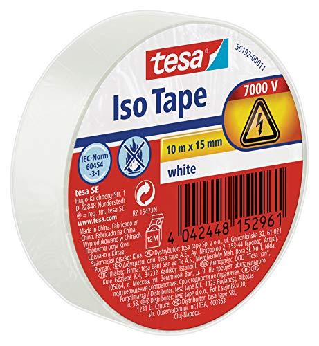 tesa 56192-00011-02 11625 Isolierband, Weiß, 1 Rolle
