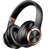 Picun B27 Gaming Headset 80 Hrs Playtime Low Latency Bluetooth Headphones Over Ear with Hifi Surround Sound, Wireless Headphone Foldable/Soft Memory Foam Earpads/Wired/Wireless Headset for Phone/TV/PC