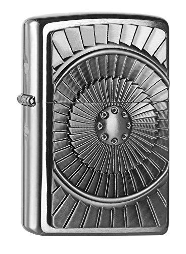 Zippo Zippo 2004651 Turbine Emblem Feuerzeug, Messing Map(language_tag -> De_de)
