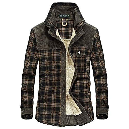 Adelina Mantel mannen warm houden hemd jas flanel rooster hemd wol Fashionable Completi voering houthakker overhemd werkjas overgangsjas 2019 heren kleding