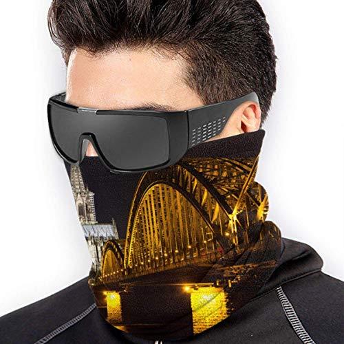 ShiHaiYunBai Halstuch/Kopftuch Neck Gaiter Warmer Windproof Mask Dust - Free UV Face Mask - Köln Bei Nacht