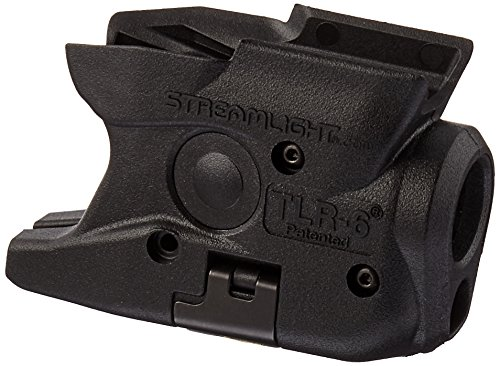 Streamlight 69273 TLR-6 Tactical Pistol Mount Flashlight 100 Lumen with Integrated Red Aiming Laser Designed Exclusively and Solely for M&P Shield 40 Shield 9 Only, Black