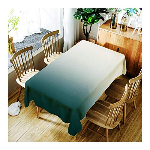 ZHAOXIANGXIANG Tapis De Table Lavable Minimaliste Élégante Et Littéraire Solid Color Gradient Décoration D'Intérieur Nappe d'impression,90Cm×130Cm