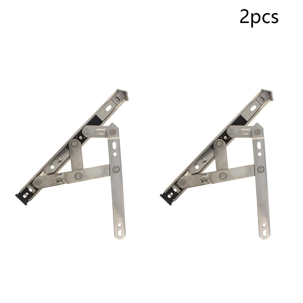 MroMax 2PCS 8 inches Stainless Steel Casement Window Friction Hinge Stays Foldable Expansion Brace Sliver Tone
