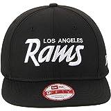 New Era Los Angeles Rams 9Fifty Black & White Script Adjustable Snapback Hat NFL