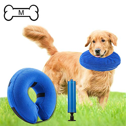 Inflatable Cone (Recovery) Collar for Dogs and Cats After Surgery Preventing Pets from Biting and Licking