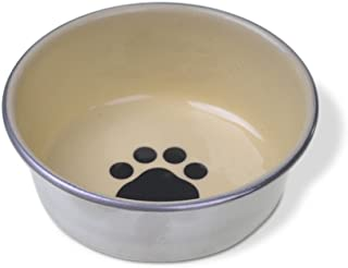 Van Ness Decorated Stainless Cat Dish, 8 oz(assorted colors)